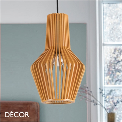 CITRUS 1 PENDANT LIGHT, WOOD