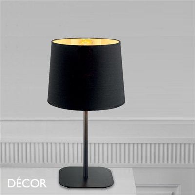 NORDIK TABLE LAMP, BLACK & GOLD