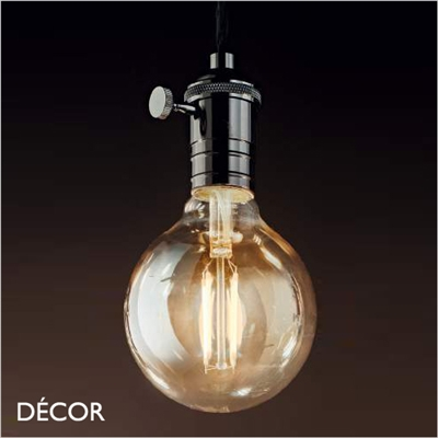 DOC SUSPENSION LIGHT FITTING, LEAD-BLACK