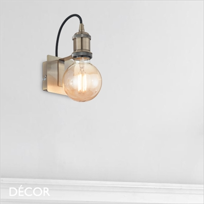 FRIDA SUSPENSION WALL LIGHT, BRASS