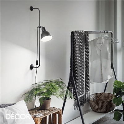 SHOWER WALL LIGHT, MATT BLACK