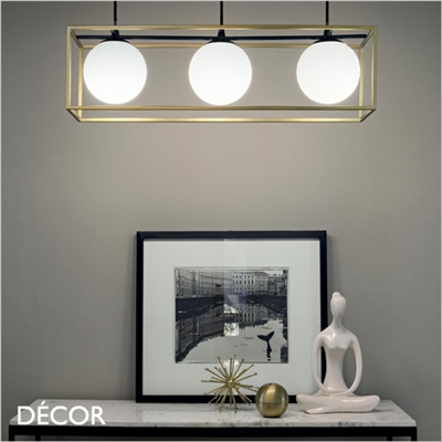 LINGOTTO SUSPENSION LIGHT, BRASS