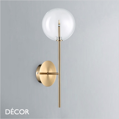 EQUINOXE WALL LIGHT, ANTIQUE BRASS