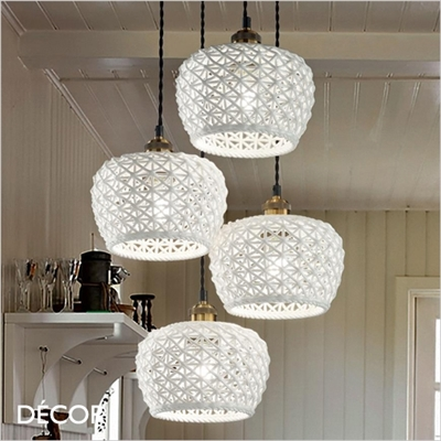 EDELWEISS MULTIPLE PENDANT LIGHT, WHITE