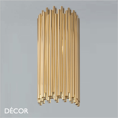 PAN WALL LIGHT, BRASS