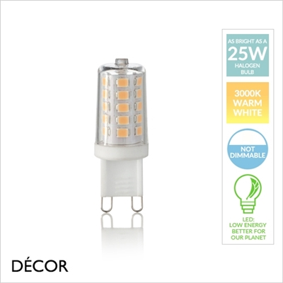G9 4W LED CAPSULE BULB, WARM LIGHT