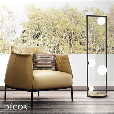CULTO FLOOR LAMP, BLACK & WHITE
