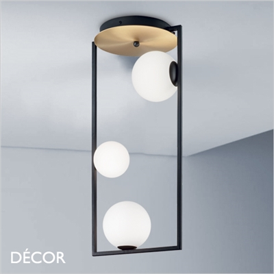 CULTO CEILING LIGHT, BLACK & WHITE