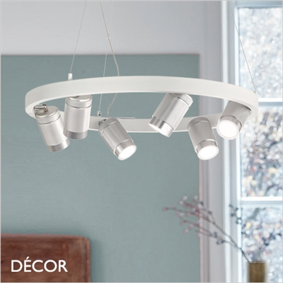 ZOOM SPOTLIGHT SUSPENSION LIGHT, WHITE