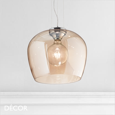 BLOSSOM PENDANT LIGHT, AMBER