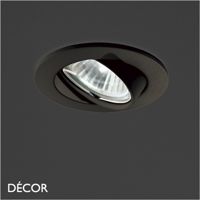 SWING DIRECTIONAL RECESSED DOWNLIGHT, BLACK