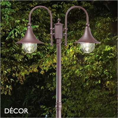 CIMA OUTDOOR POST LIGHT, COFFEE