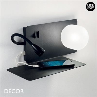BOOK WALL LIGHT, BLACK