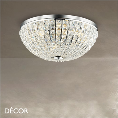 CALYPSO CEILING LIGHT, 2 SIZES, CHROME
