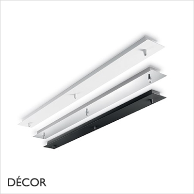 CEILING PLATE, BLACK, WHITE & CHROME