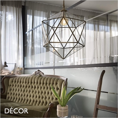 DECA, 2 SIZES PENDANT LIGHT, BRASS
