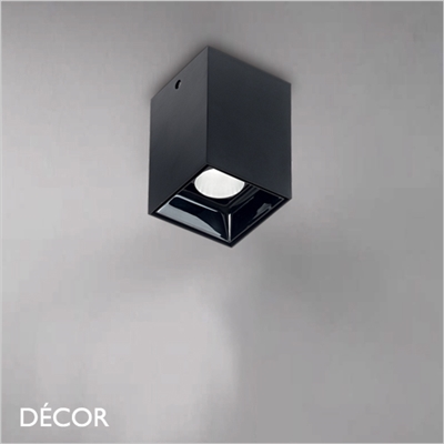 NITRO SQUARE, 2 SIZES, DOWNLIGHT/ SPOTLIGHT, BLACK