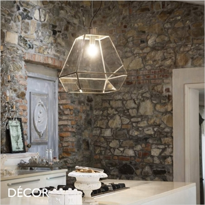 ORANGERIE PENDANT LIGHT, BRASS