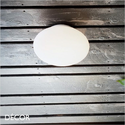 BUBBLE OUTDOOR CEILING LIGHT, WHITE