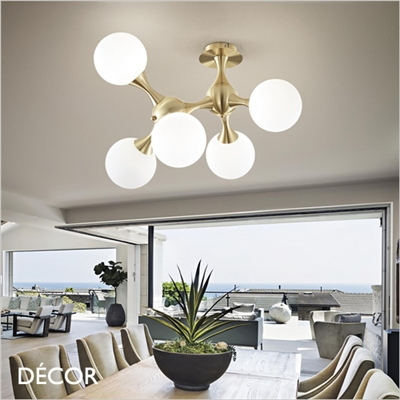 NODI MULTIPLE CEILING LIGHT, BRASS