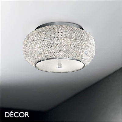 PASHA CEILING LIGHT, 3 SIZES, CHROME