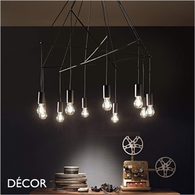 POP MULTIPLE SUSPENSION LIGHT, BLACK