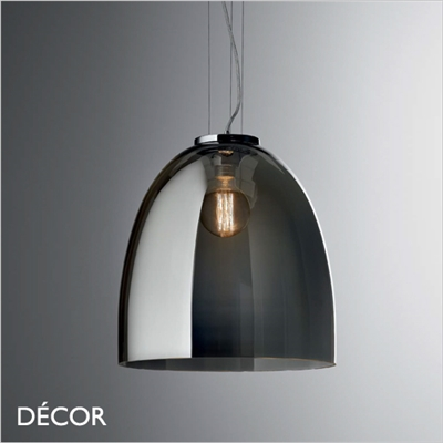 EVA PENDANT LIGHT, SMOKED GREY GLASS