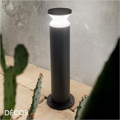 TORRE OUTDOOR POST LIGHT, ANTHRACITE OR BLACK