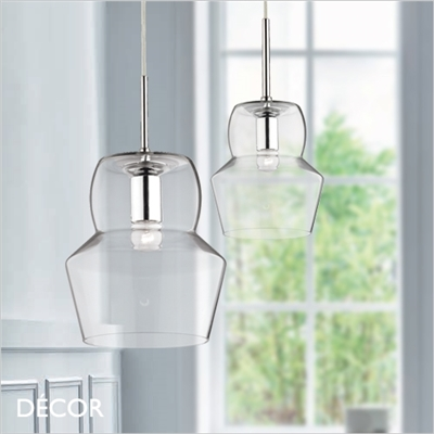 ZENO PENDANT LIGHT, CLEAR