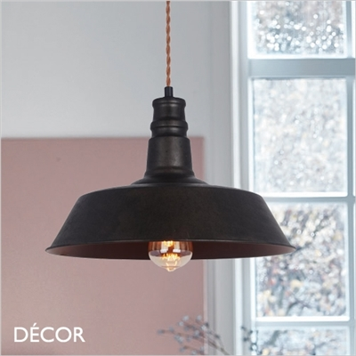 CAMPANE PENDANT LIGHT, BLACK-BROWN