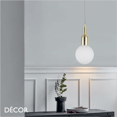 BALL SUSPENSION LIGHT, BRASS