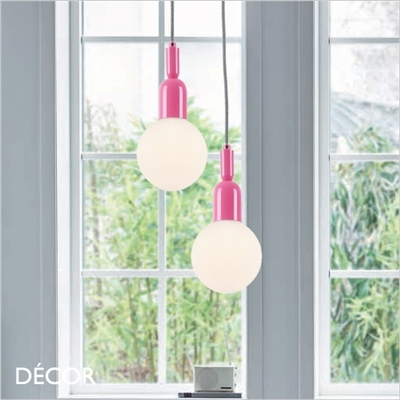 BALL SUSPENSION LIGHT, PINK