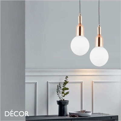 BALL SUSPENSION LIGHT, ROSE GOLD