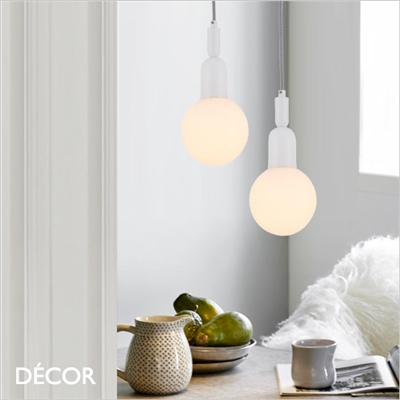BALL SUSPENSION LIGHT, WHITE