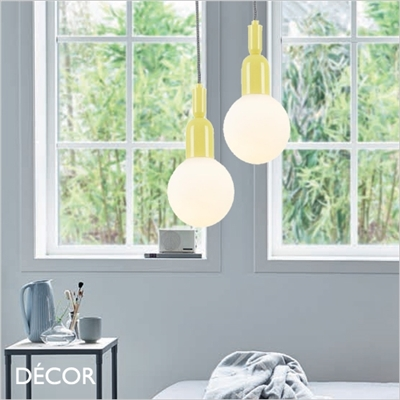 BALL SUSPENSION LIGHT, YELLOW