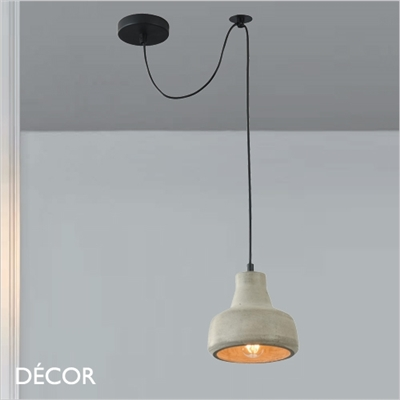 BRONI, FIVE PENDANT LIGHT, CEMENT