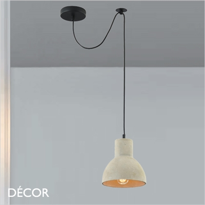 BRONI, FOUR PENDANT LIGHT, CEMENT
