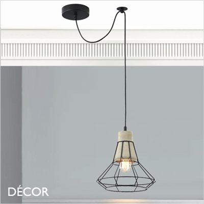 GOSFORD, THREE CAGE PENDANT LIGHT, CEMENT