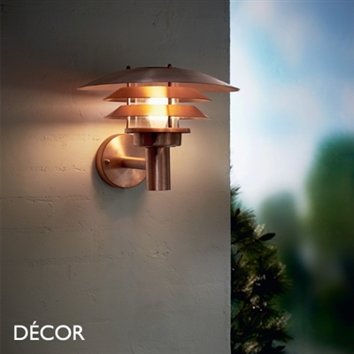 VENO OUTDOOR WALL LIGHT, WATER & MOISTURE RESISTANT, COPPER