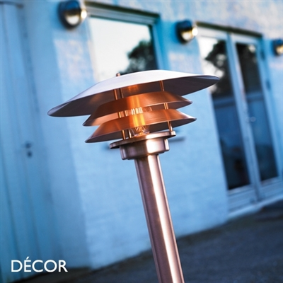 VENØ OUTDOOR GARDEN LAMP POST LIGHT, WATER & MOISTURE RESISTANT, COPPER