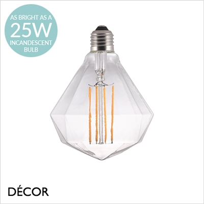 2W E27 AVRA DIAMENT DECORATIVE LED FILAMENT BULB