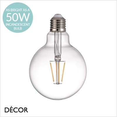 5W E27 LED FILAMENT GLOBE DESIGNER BULB, DIMMABLE