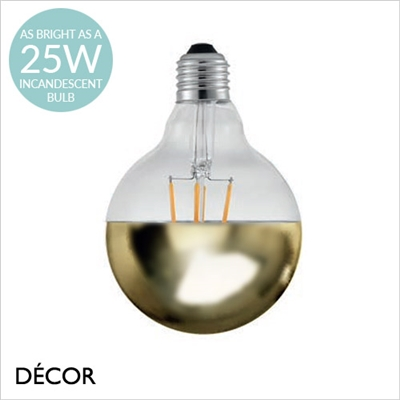 AVRA TOP DESIGNER BULB, E27 2W LED FILAMENT, BRASS
