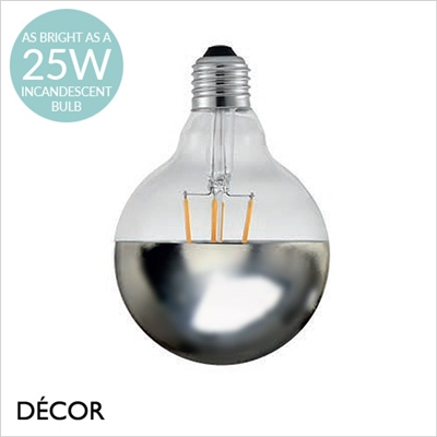 AVRA TOP DESIGNER BULB, E27 2W LED FILAMENT, MIRROR