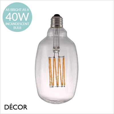 AVRA AIR DESIGNER BULB, E27 4W LED FILAMENT, CLEAR