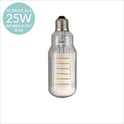 AVRA COMMON DESIGNER BULB, E27 2W LED FILAMENT, CLEAR