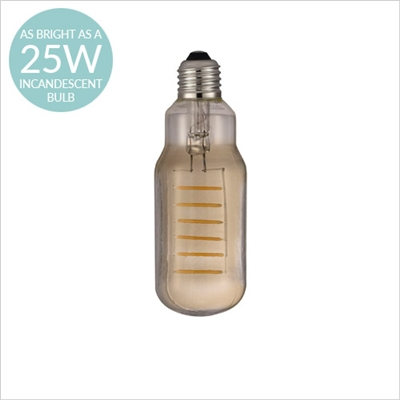 AVRA COMMON DESIGNER BULB, E27 2W LED FILAMENT, SMOKED