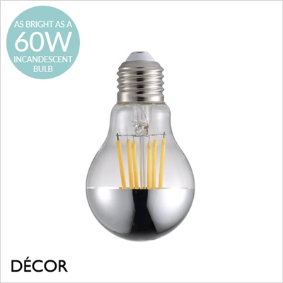8.3W E27 LED MIRROR TOP BULB, DIMMABLE