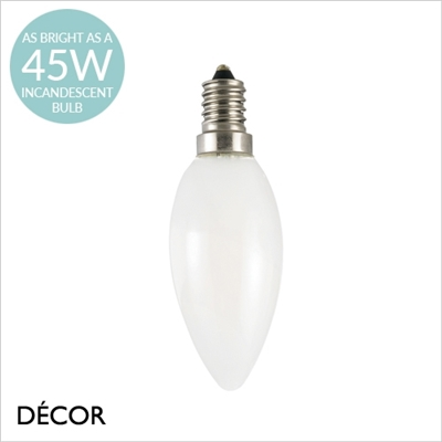 E14 5W LED WHITE CANDLE BULB, DIMMABLE