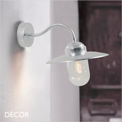 LUXEMBOURG WALL LIGHT, GALVANIZED STEEL